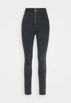Missguided Tall - RING ZIP OUTLAW JEGGING - Jeans Skinny Fit - grey