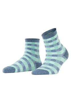 Burlington - VICHY - Socken - blau mel