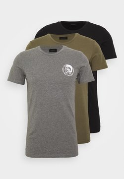 Diesel - UMTEE RANDAL 3 PACK - T-shirt basic - black/green/grey