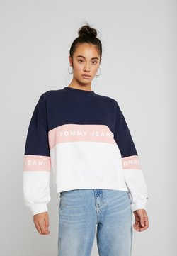 Tommy Jeans - COLORBLOCK CREW - Sudadera - classic white/multi