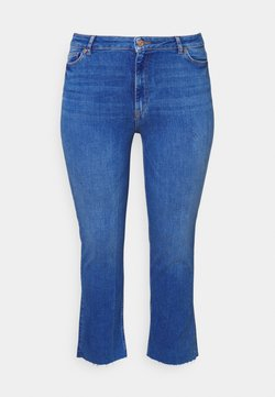 Pieces Curve - PCDELLY STRAIGHT ELECTRIC - Jeans Tapered Fit - medium blue denim