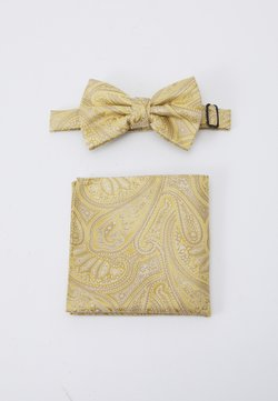 Burton Menswear London - PAISLEY BOWTIE AND HANKIE SET - Einstecktuch - yellow