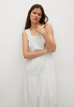 Mango - COQUET - Robe longue - blanc