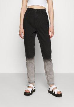 Missguided - TIE DYE OMBRE WRATH - Jeans Straight Leg - black