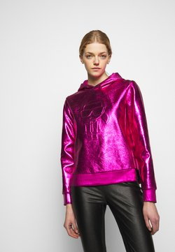 KARL LAGERFELD - IKONIK HOODIE - Huppari - metallic pink