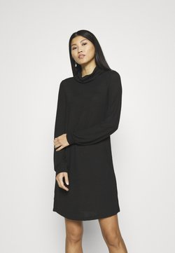 GAP - TURTLENECK DRESS - Neulemekko - true black