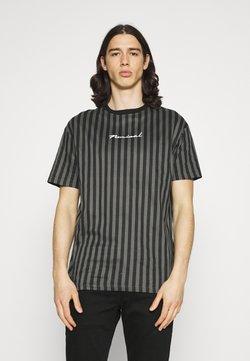 Nominal - STRIPE TEE - T-Shirt print - black