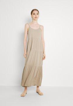 NU-IN - CAMI STRAP TIERED DRESS - Maxikleid - beige