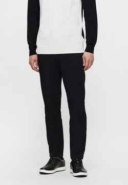 J.LINDEBERG - AXIL FLEECE TWILL - Stoffhose - black