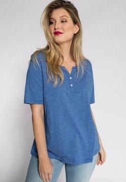 Ulla Popken - STREIFEN TUNIKA-AUSSCHN - T-Shirt print - royalblau