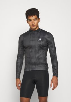 ODLO - MIDLAYER FULL ZIP ZEROWEIGHT CERAMIWARM - Sportshirt - graphite grey/black