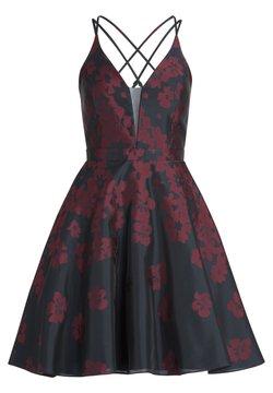 Vera Mont - MIT JACQUARD - Cocktailkleid/festliches Kleid - dark blue/dark red