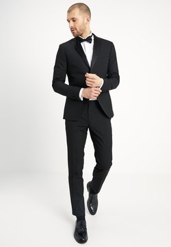 Isaac Dewhirst - BASIC PLAIN BLACK TUX SUIT SLIM FIT - Completo - black