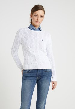 Polo Ralph Lauren - CLASSIC - Stickad tröja - white