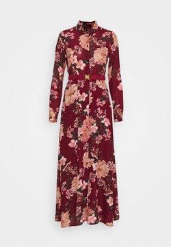 Vero Moda - VMSUNILLA BELT ANCLE DRESS - Maxikjole - cabernet/sunilla