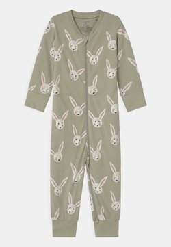 Lindex - RABBIT FACES UNISEX - Pyjama - dusty green