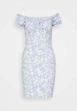 Nly by Nelly - FRILL TIE DRESS - Etuikleid - light blue