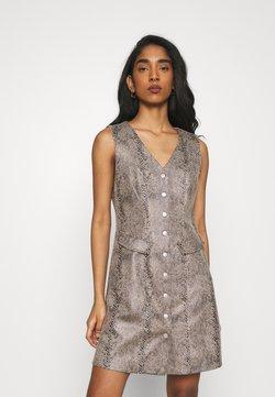 Vero Moda - VMGAIA SHORT FAUX DRESS - Vestido camisero - brown