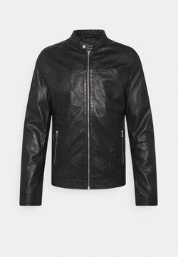 Goosecraft - ROSSTOCK BIKER - Leren jas - black