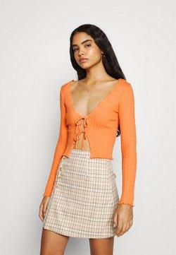 BDG Urban Outfitters - NOORI TIE FRONT - Gilet - orange