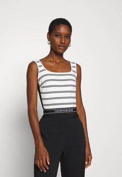 Calvin Klein Jeans - STRIPE MILANO TANK - Top - creamy white