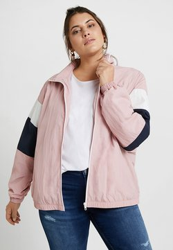 Urban Classics Curvy - LADIESCRINKLE TRACK  - Windbreaker - darkrose/navy/white