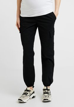 New Look Maternity - UTILITY POCKET TROUSER - Jogginghose - black