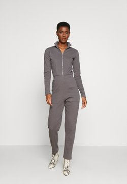 Missguided Tall - RIBBED ZIP DETAIL - Combinaison - grey