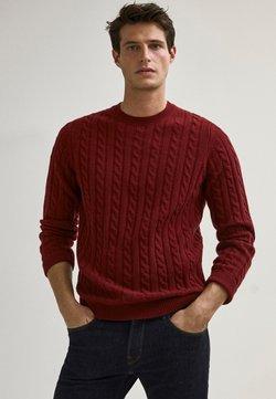 Massimo Dutti - Stickad tröja - red