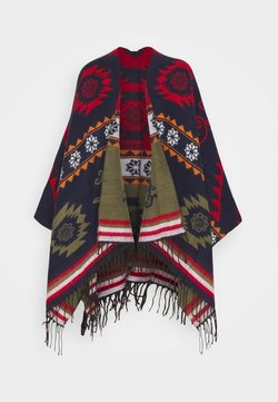 Desigual - PONCHO FREEDOM REVERSIBLE - Cape - blue