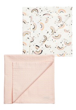 Next - 2 PACK PINK GEO AND RAINBOW MUSLIN SQUARES - Mullwindel - pink