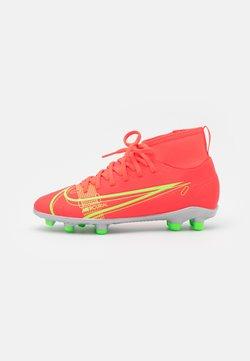 Nike Performance - MERCURIAL 8 CLUB MG UNISEX - Voetbalschoenen met kunststof noppen - bright crimson/metallic silver