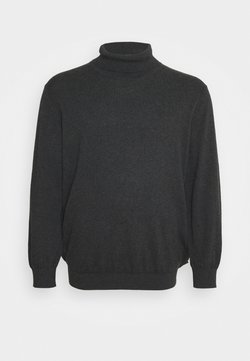 Jack & Jones - JJEEMIL ROLL NECK - Sweatshirt - dark grey melange