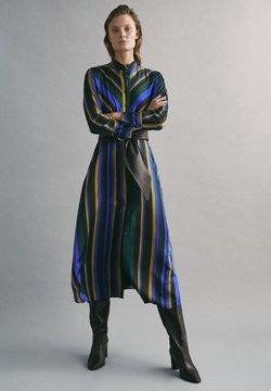 Massimo Dutti - MIT STREIFENPRINT - Vestito estivo - blue