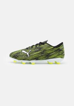 Puma - ULTRA 4.2 FG/AG JR UNISEX - Chaussures de foot à crampons - black/white/yellow alert