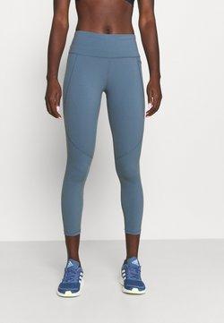 Sweaty Betty - POWER WORKOUT 7/8 LEGGINGS - Tights - steel blue