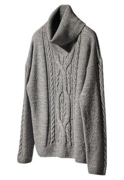 Massimo Dutti - MIT ROLLKRAGEN - Sweter - dark grey