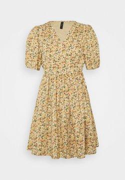 YAS Petite - YASLAGI WRAP DRESS  - Vestido informal - humus/lagi