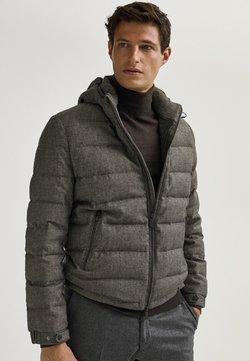 Massimo Dutti - MIT HAHNENTRITTMUSTER  - Down jacket - grey
