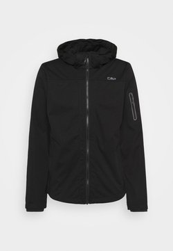 CMP - MAN ZIP HOOD JACKET - Softshelljacke - nero