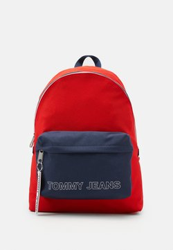 Tommy Jeans - LOGO TAPE DOME BACKPACK - Reppu - red/blue