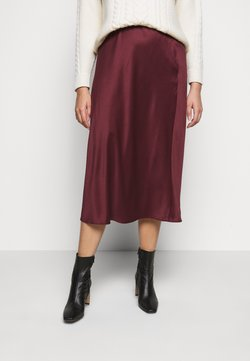 CAPSULE by Simply Be - COLUMN MIDI SKIRT - A-Linien-Rock - merlot