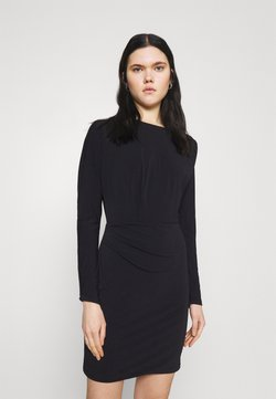 Forever New - CARA DRAPED MINI DRESS - Etui-jurk - black