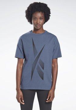 Reebok - VECTOR GRAPHIC T-SHIRT - T-Shirt print - blue