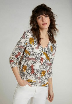 Oui - Bluse - offwhite red