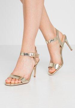 Dorothy Perkins - SOHO ENAMEL MINIMAL  - High Heel Sandalette - gold