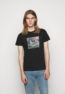 PS Paul Smith - SLIM FIT ZEBRA - T-Shirt print - black