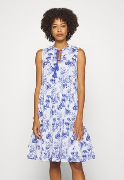 Emily van den Bergh - DRESS - Sukienka letnia - white/blue