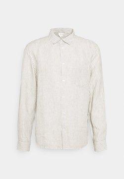 ARKET - Linen Shirt - Hemd - green/white
