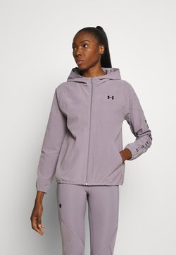 Under Armour - HOODED JACKET - Chaqueta de deporte - slate purple